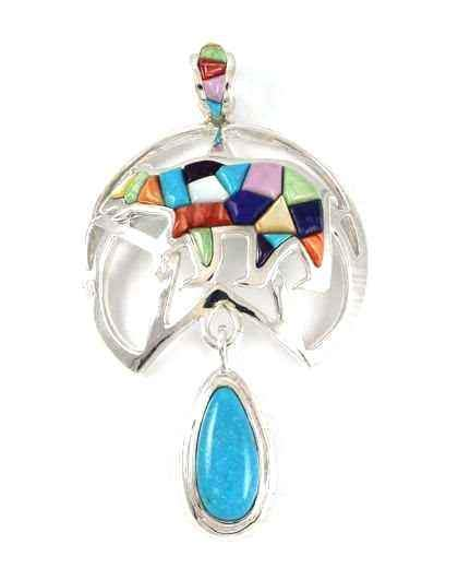 Ben Nighthorse-Star Bear Pendant-Sorrel Sky Gallery-Jewelry