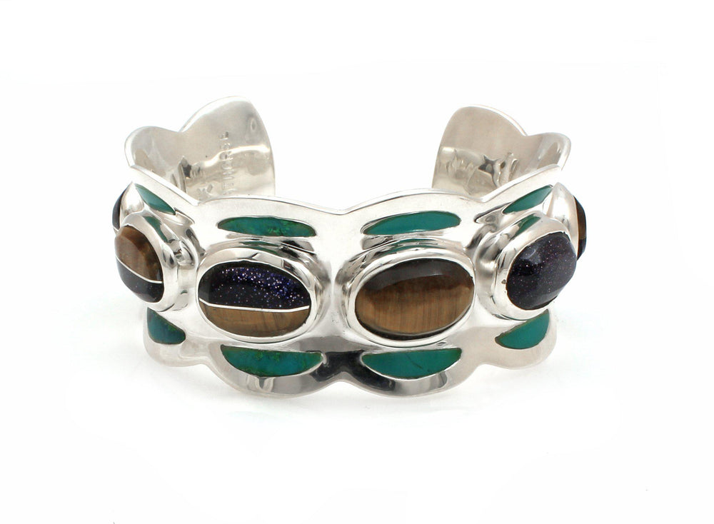 Valley Of Gems Cuff Bracelet-Jewelry-Ben Nighthorse-Sorrel Sky Gallery