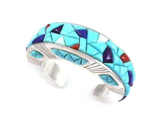 Wide Channel Inlay Bracelet