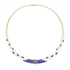 Gold-Plated Abiani Lapis Necklace-Jewelry-Bernd Wolf