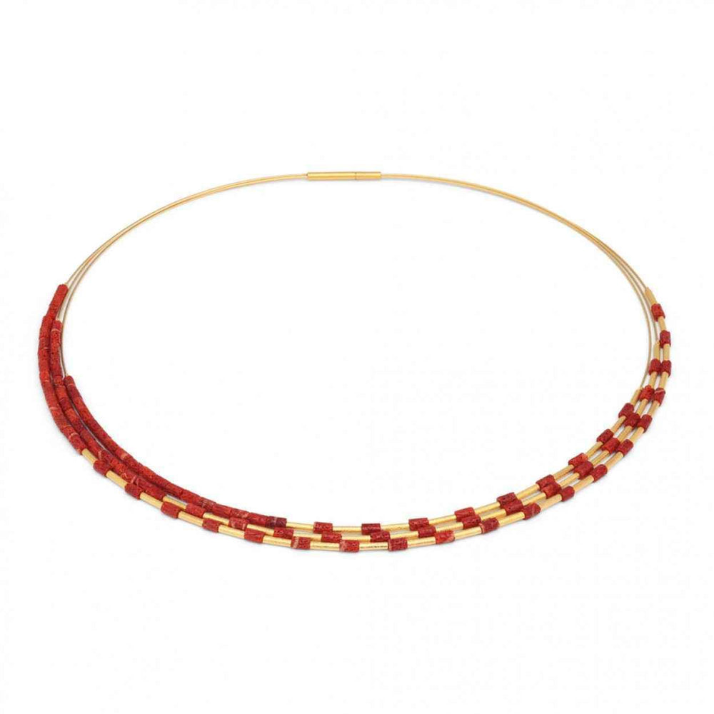 Bernd Wolf-Clea Coral Necklace-Sorrel Sky Gallery-Jewelry