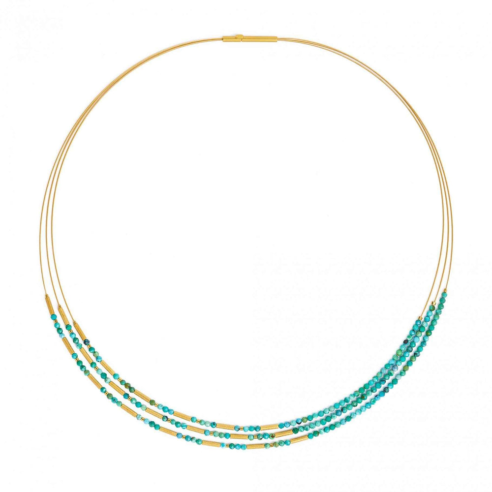 Clini Turquoise Necklace-Jewelry-Bernd Wolf-Sorrel Sky Gallery