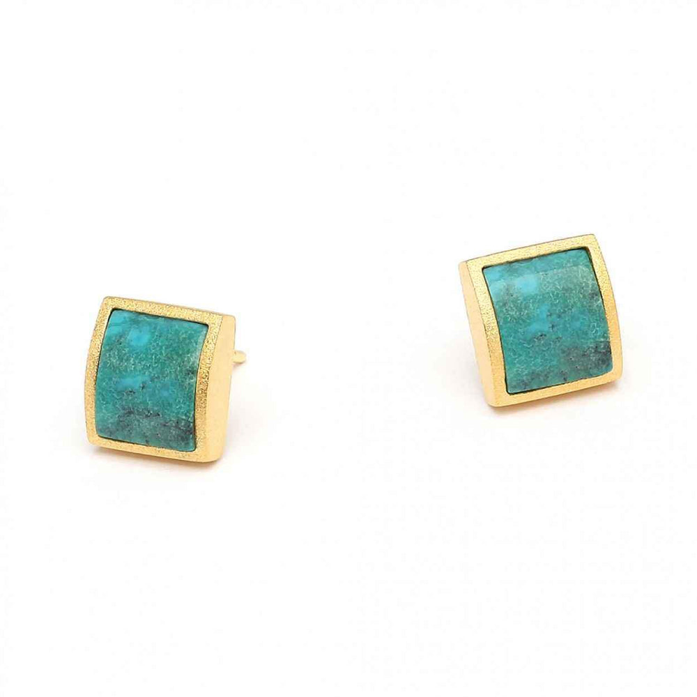 Bernd Wolf-Colina Turquoise Earrings-Sorrel Sky Gallery-Jewelry
