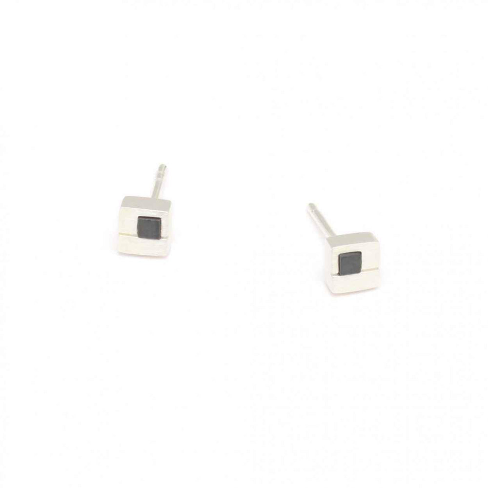 Cubimos Hematine Post Earrings