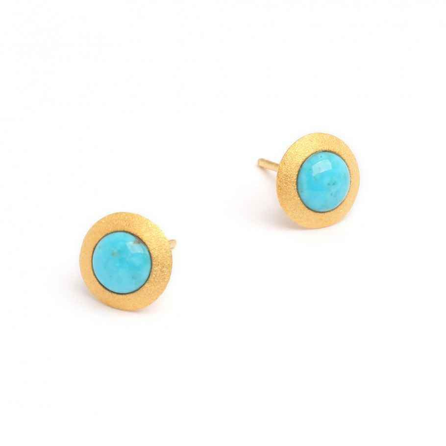Disca Turquoise Earrings