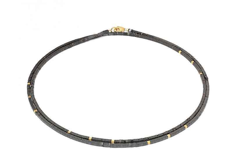 Bernd Wolf-Pionga Hematine Necklace-Sorrel Sky Gallery-Jewelry