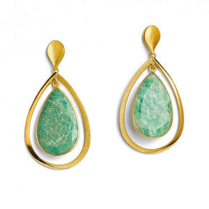 Sequanna Amazonite Earrings-Jewelry-Bernd Wolf-Sorrel Sky Gallery