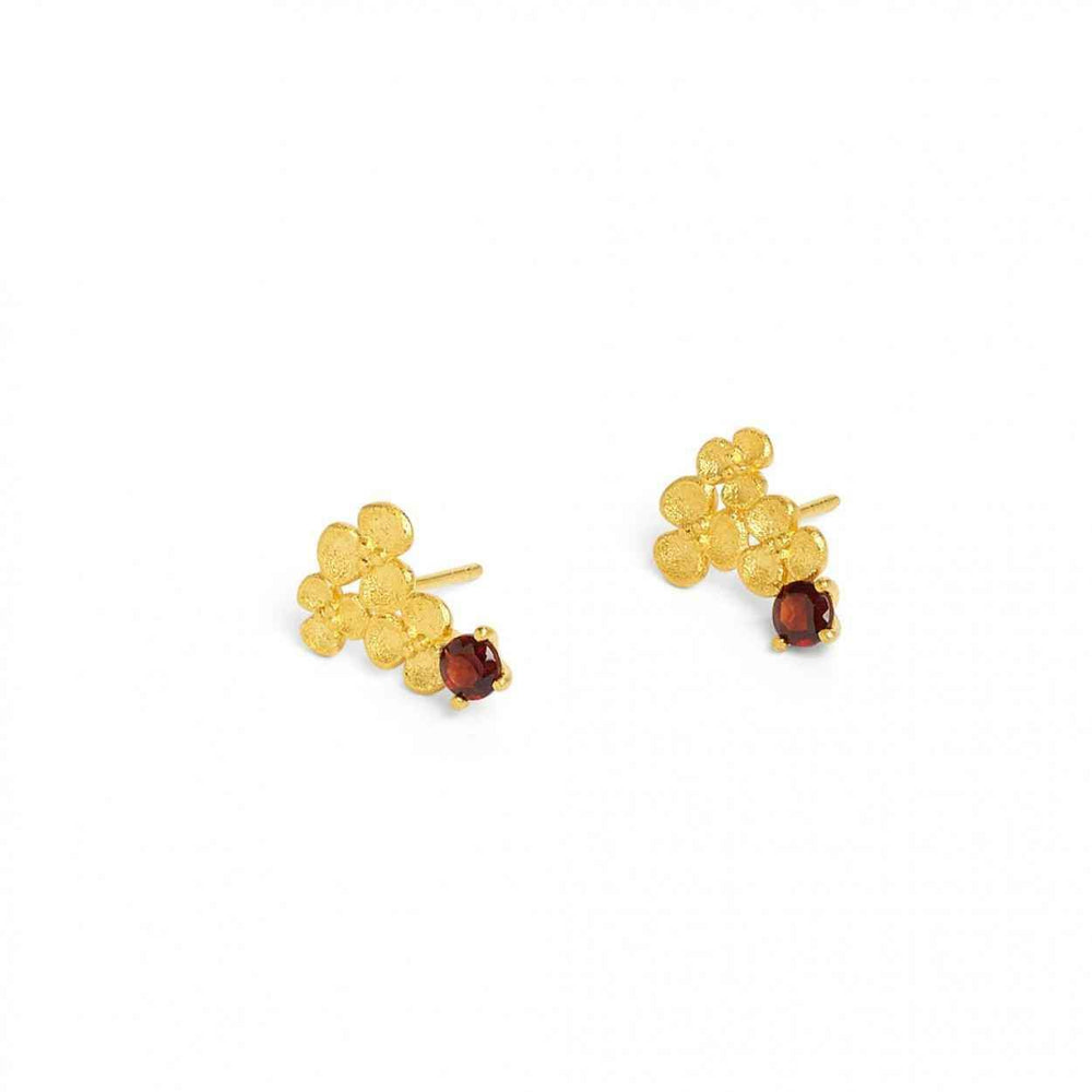 Bernd Wolf-Triflori Garnet Earrings-Sorrel Sky Gallery-Jewelry