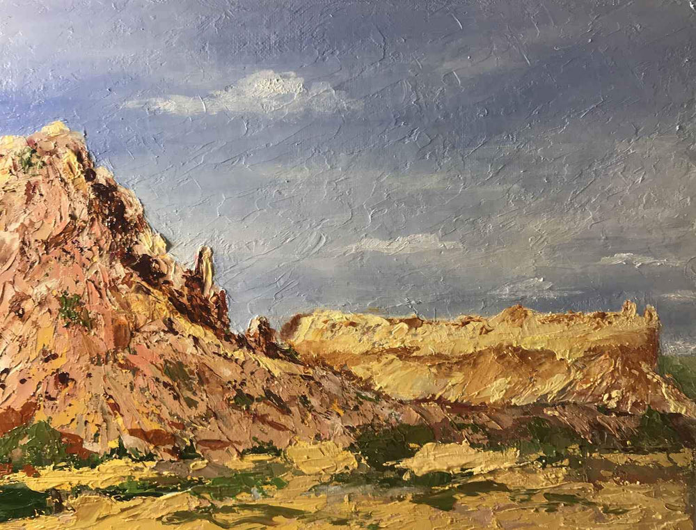 Boneta Currey-Sorrel Sky Gallery-Painting-Cliffs of Abique