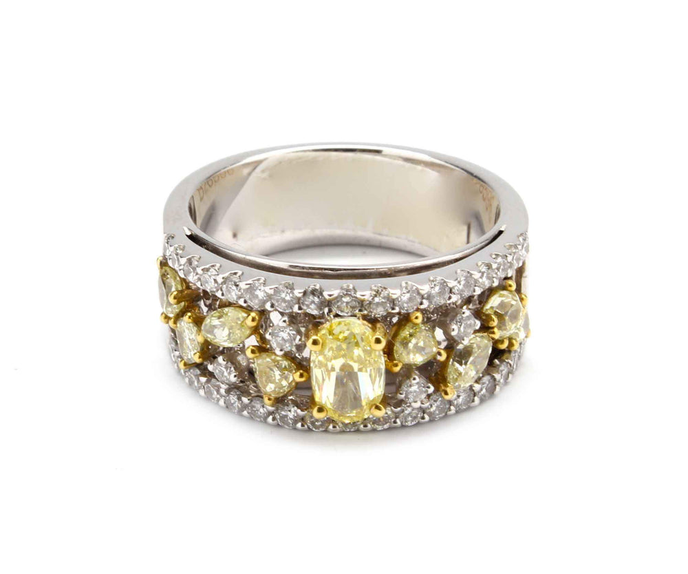 Yellow Diamonds Band Ring