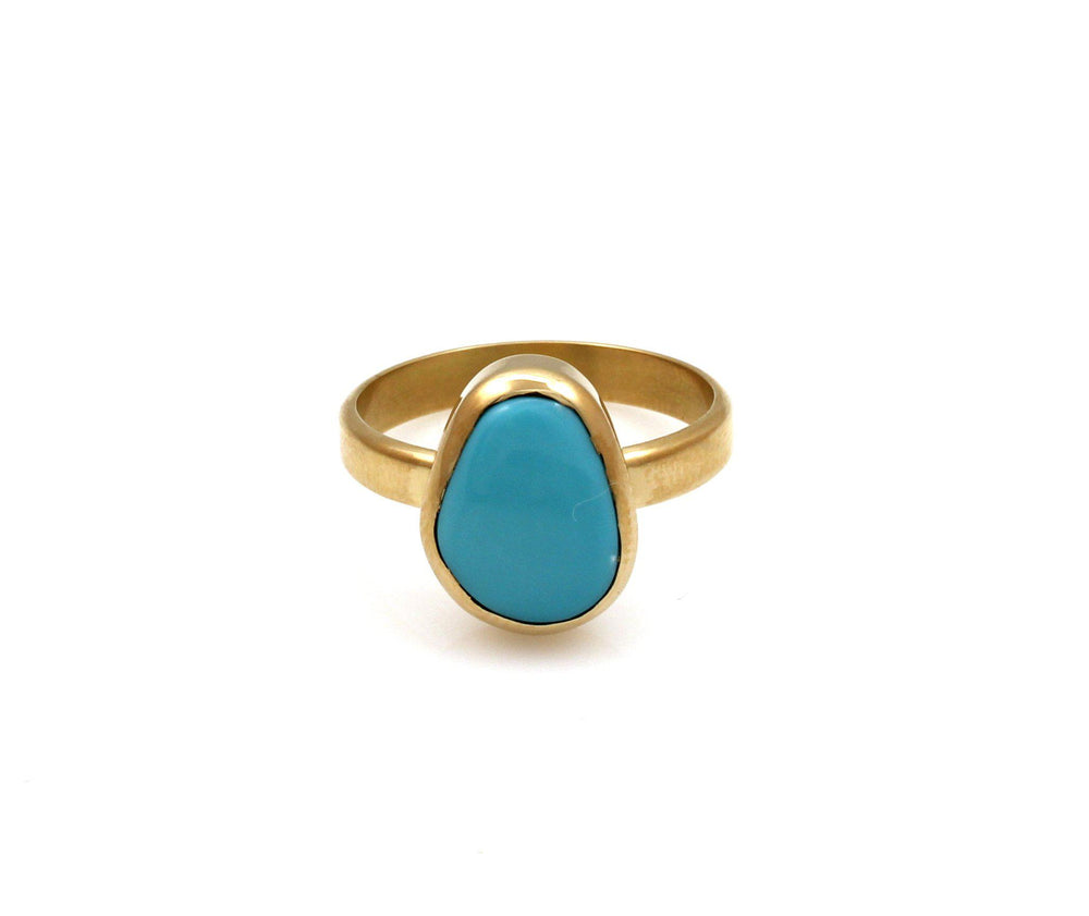 Lone Mountain Turquoise Ring-Jewelry-Chris Pruitt-Sorrel Sky Gallery