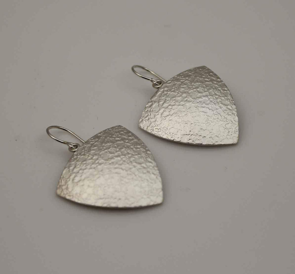 Trillion Crater Texture Earrings