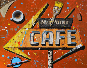 Cafe Al Fresco-Painting-Chuck Middlekauff-Sorrel Sky Gallery