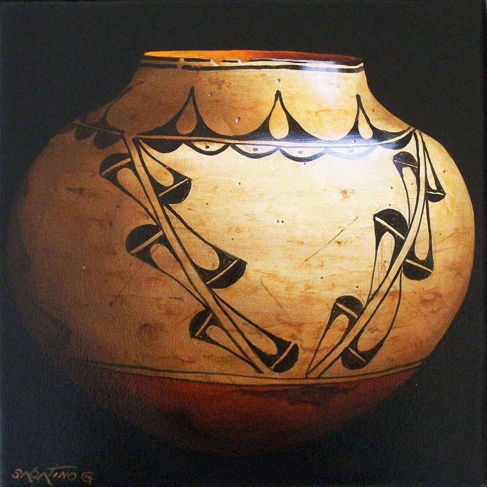 Chuck Sabatino-Sorrel Sky Gallery-Painting-Cochiti Storage Jar