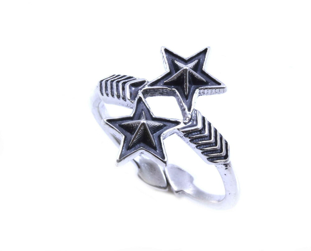 Double Arrow And Double Star Ring