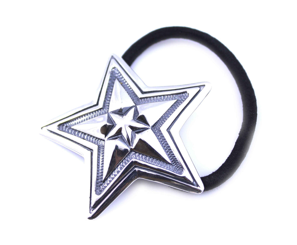 Sterling silver star hair tie by Cody Sanderson