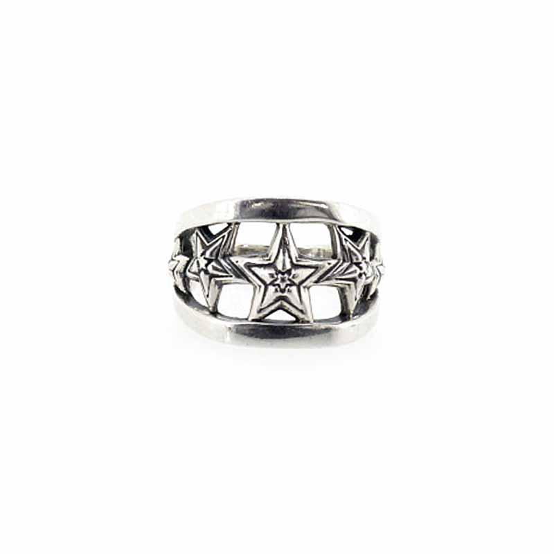 Five Star In Star Cut Out Ring