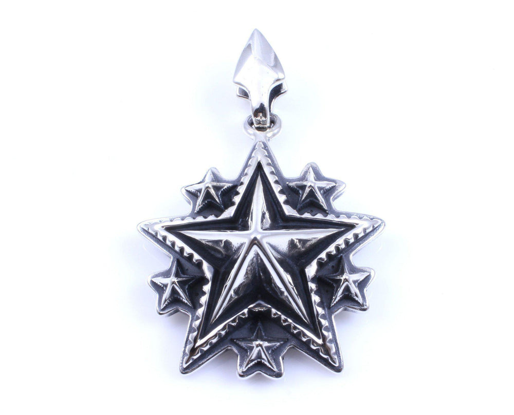 Large Spike Starry Pendant With Arrow Head Bail