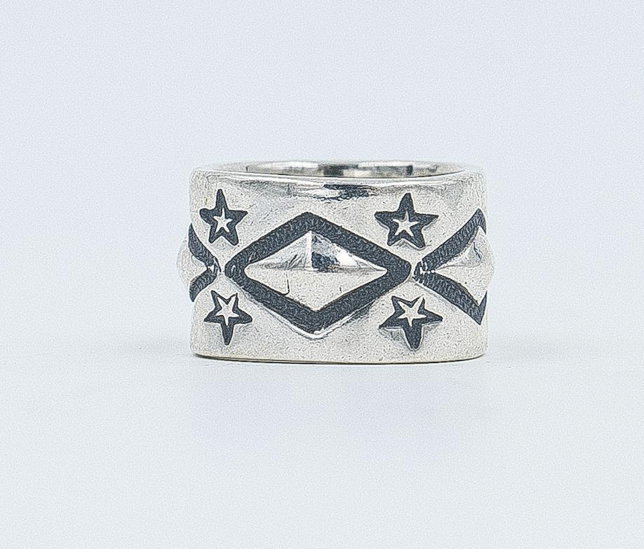 Cody Sanderson-Long Diamond With Stars Ring-Sorrel Sky Gallery