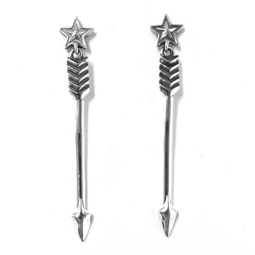 Medium Arrow With Star Earrings