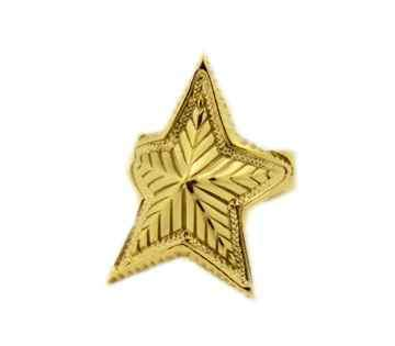 Small Depp Star Ring 18K Gold