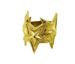 Cody Sanderson-Three interlocking Star Ring 18K Gold-Sorrel Sky Gallery