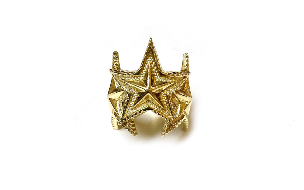 Three interlocking Star Ring 18K Gold