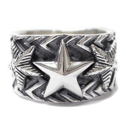 Wave Gear 3 Stars Ring