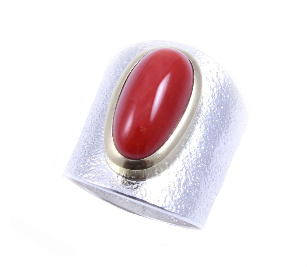Darryl Dean & Rebecca Begay-Sorrel Sky Gallery-Jewelry-Coral Ring