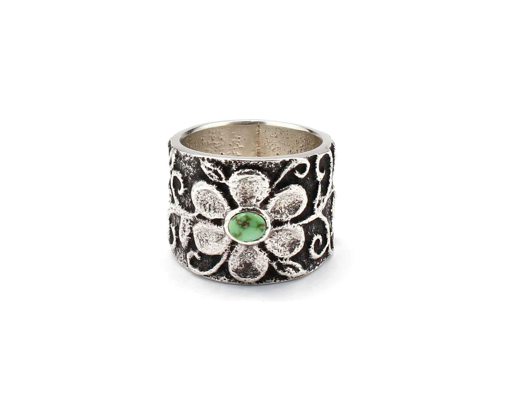 Darryl Dean & Rebecca Begay-Sorrel Sky Gallery-Jewelry-Floral Band Ring