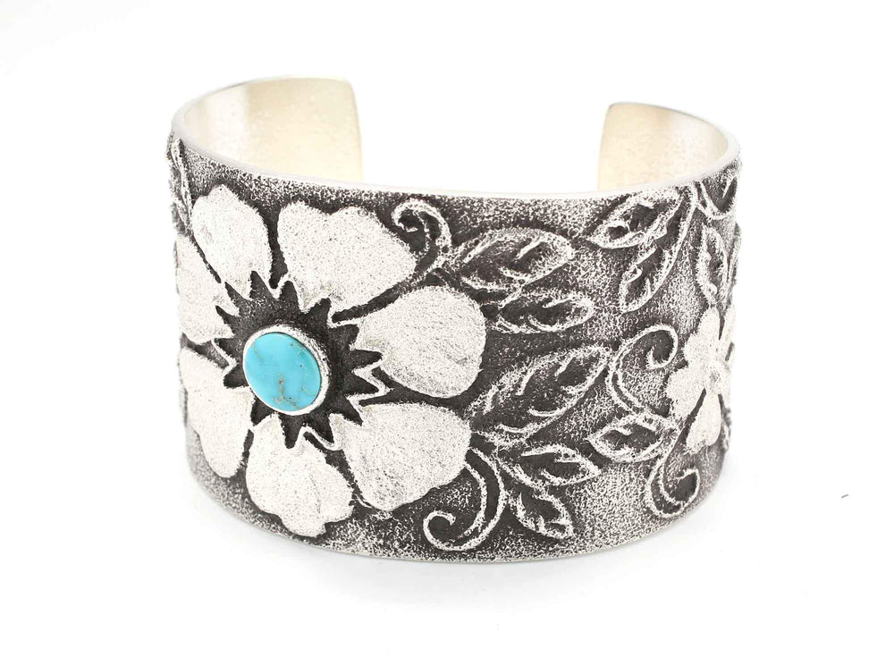 Floral Turquoise Cuff