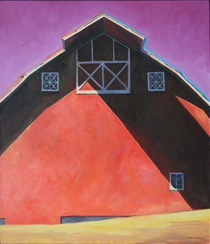 David Knowlton-Magenta Sky-Sorrel Sky Gallery-Painting