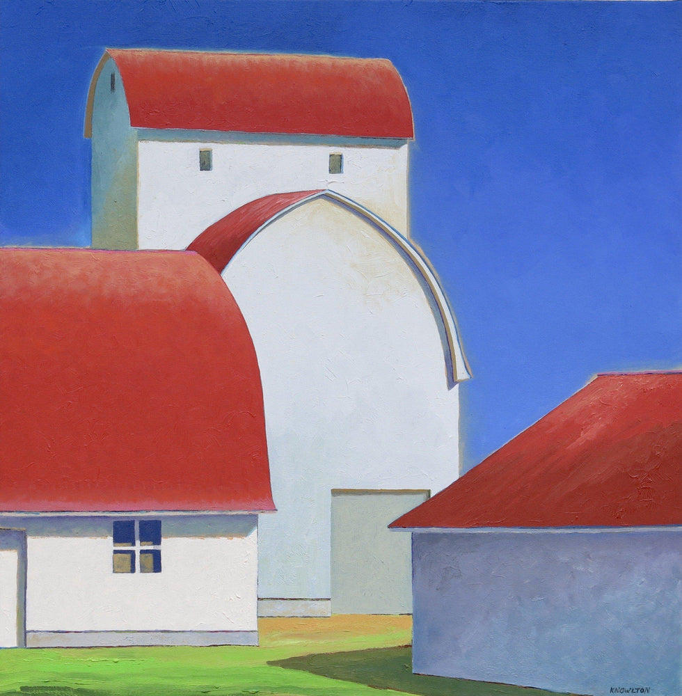 Scarlet Roof-Painting-David Knowlton-Sorrel Sky Gallery