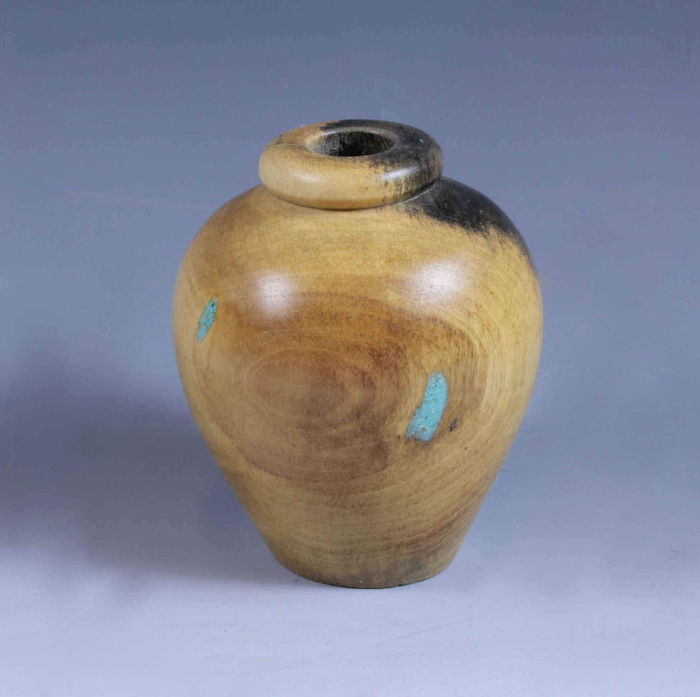 Dean Carrier-Sorrel Sky Gallery-Sculpture-Buckeye And Turquoise Turning