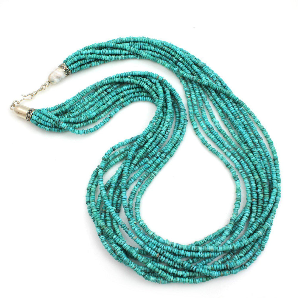 11 Strand Turquoise Necklace