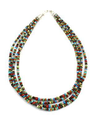 4 Strand Multi Stone Necklace-Jewelry-Don Lucas-Sorrel Sky Gallery