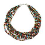 7 Strand Multi Stone Necklace