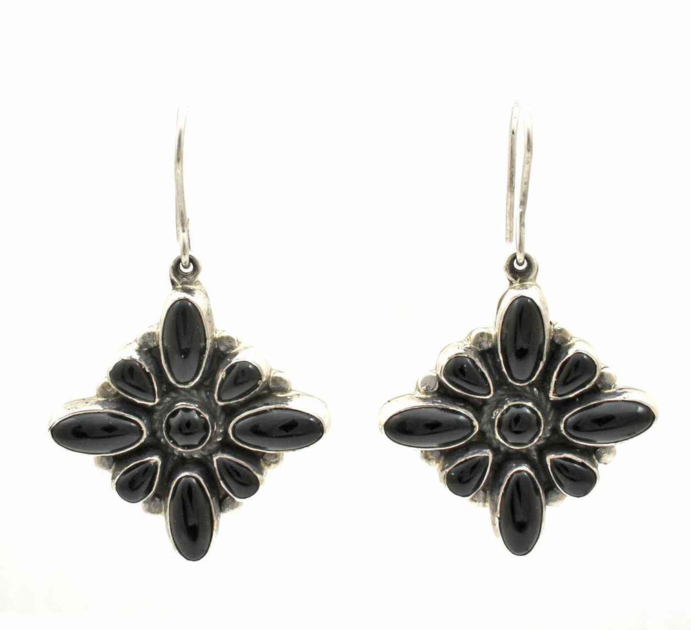 Black Onyx Cluster Earrings