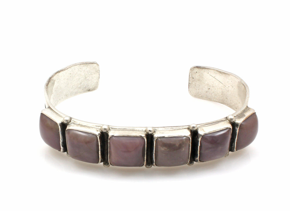 Charolite Row Cuff Bracelet-Jewelry-Don Lucas-Sorrel Sky Gallery