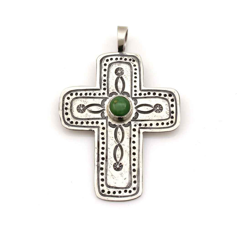 Chrysophase Cross Pendant