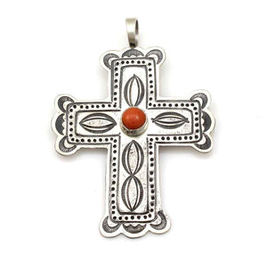Coral Cross Pendant-Jewelry-Don Lucas-Sorrel Sky Gallery