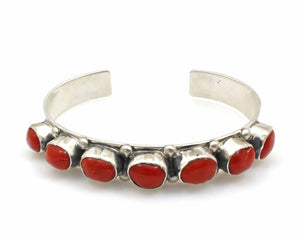 Coral Row Cuff Bracelet-Jewelry-Don Lucas-Sorrel Sky Gallery