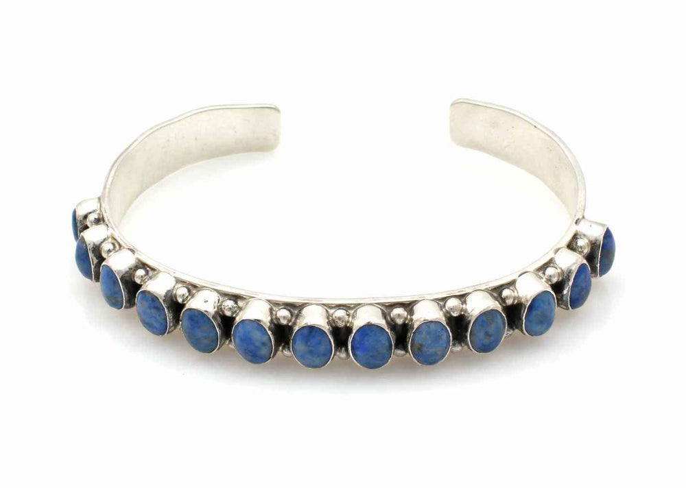 Denim Lapis Row Cuff Bracelet