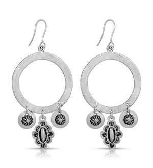 Drum Circle Earrings With Charms-Don Lucas-Sorrel Sky Gallery-Jewelry