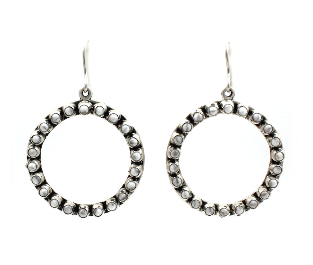 Howlite Circle Earrings