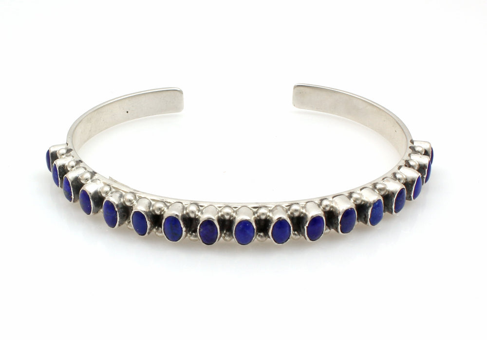 Lapis Row Cuff Bracelet-Jewelry-Don Lucas-Sorrel Sky Gallery