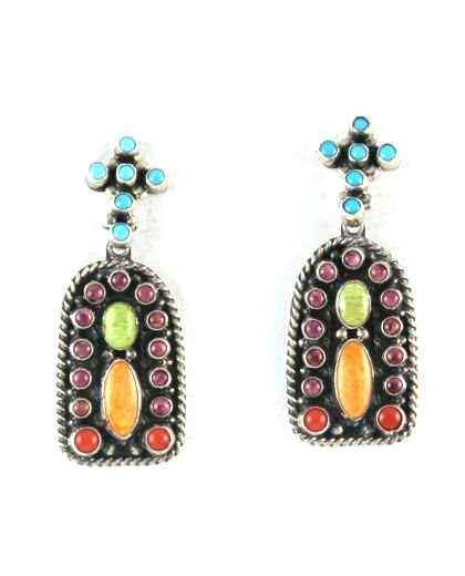 Mission Style Cluster Earrings-Don Lucas-Sorrel Sky Gallery-Jewelry