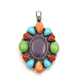 Multi Stone Cluster Pendant-Jewelry-Don Lucas-Sorrel Sky Gallery