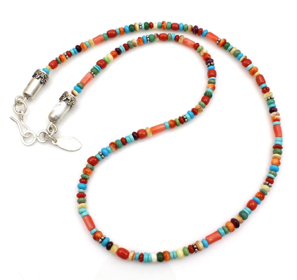 Multi Stone Single Strand Necklace-Jewelry-Don Lucas-Sorrel Sky Gallery