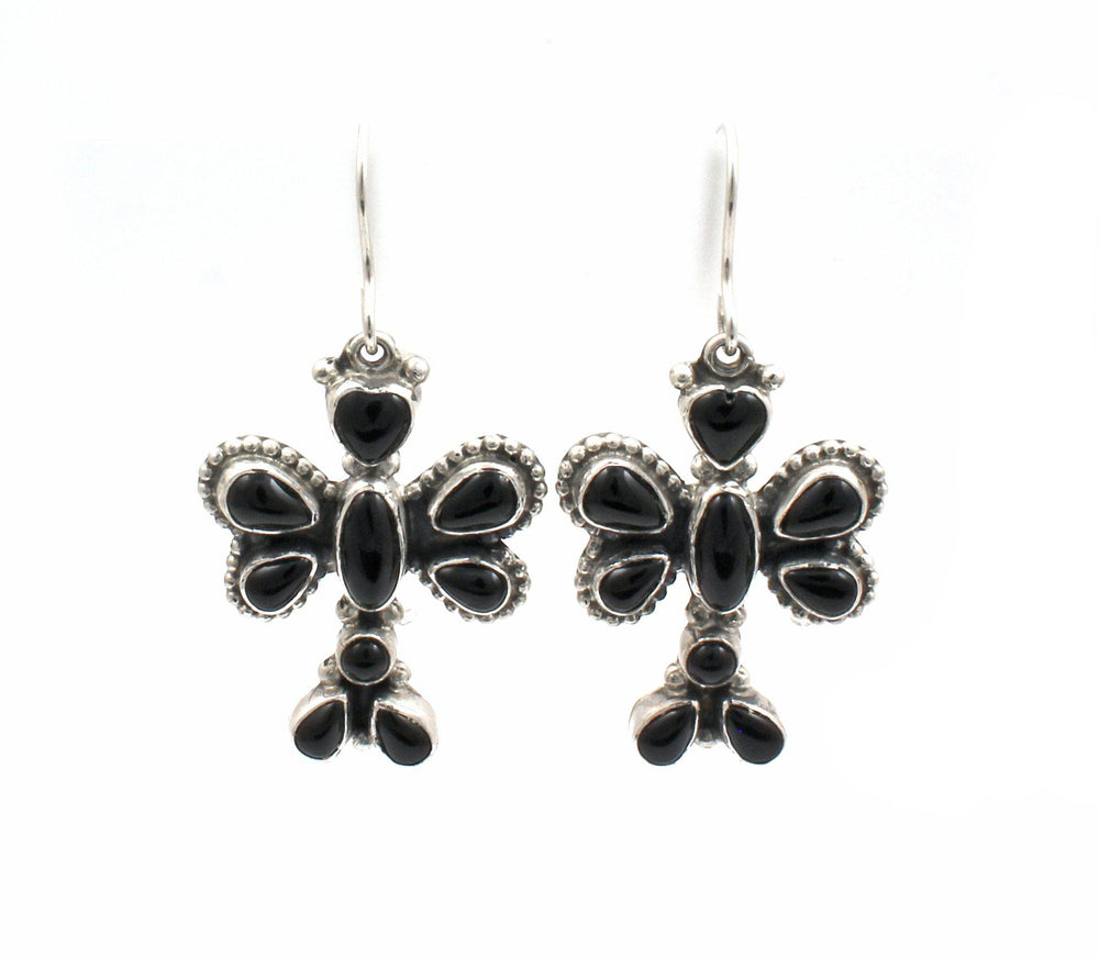 Onyx Dragonfly Earrings